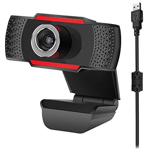 Fransande 480P - Webcam HD PC con micrófono MIC para Skype para Android TV y cámara de ordenador rotativa Web