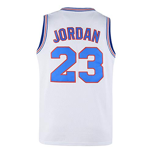 Ki Cut Mens 23# Basketball Jerseys Space Jam Movie Jerseys Shirts for Mens,90s Hip Hop Clothing for Party White S