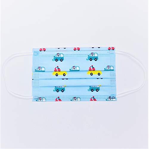50 Stück Kinder Mundschutz Einweg Masken, Mund und Nasenschutz mit Muster,...