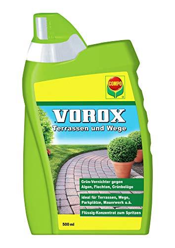 VOROX Terrassen und Wege, Grünvernichter, Flüssig-Konzentrat, 500 ml