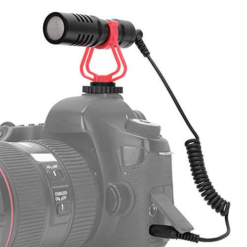 YOIM Mikrofon mit Nierencharakteristik, Plug-and-Play-Desktop-Live-Mikrofon, Interview für Mobiltelefon DSLR-Kamera-Aufnahmemikrofon mit winddichter Abdeckung