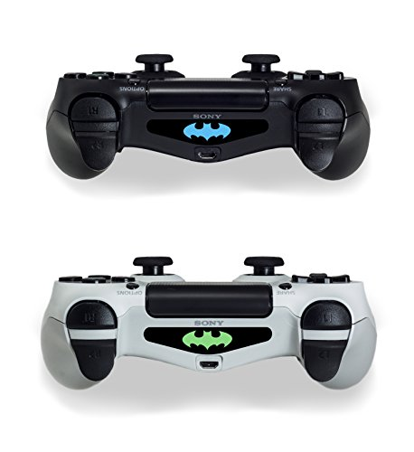 2 x Batman logo symbool PS4 controller sticker skin sticker decal plakfolie 4 zwart