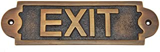 Adonai Hardware Exit Brass Door Sign - Antique Brass