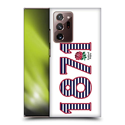 Head Case Designs Official England Rugby Union 1871 Paisaje 2016/17 La Rosa Carcasa rígida Compatible con Galaxy Note20 Ultra / 5G