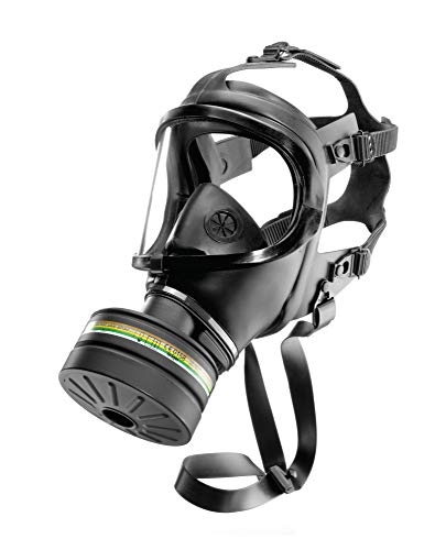 Dräger CDR 4500 Atemschutz-Vollmaske inkl. Zivilschutz-Filter | Universalgröße | Schutzklasse A2B2E2K2-P3 R D/NBC