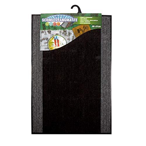 Fußmatte anthrazit | 60x90 cm | Schmutzfangmatte waschbar | Idealer Türvorleger und Schuhmatte Abtropfmatte | Sauberlaufmatte 60x90