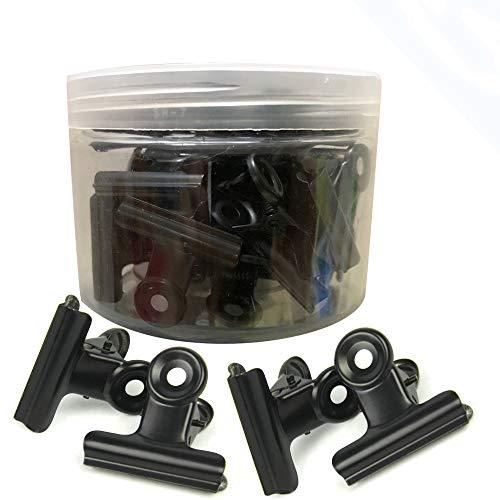 Meiyaa Metallscharnier-Clip, 30 Stück, Edelstahl, Mehrzweck-Klammern für Bilder, Fotos, Zuhause, Küche, Büro, Schule (38 mm)