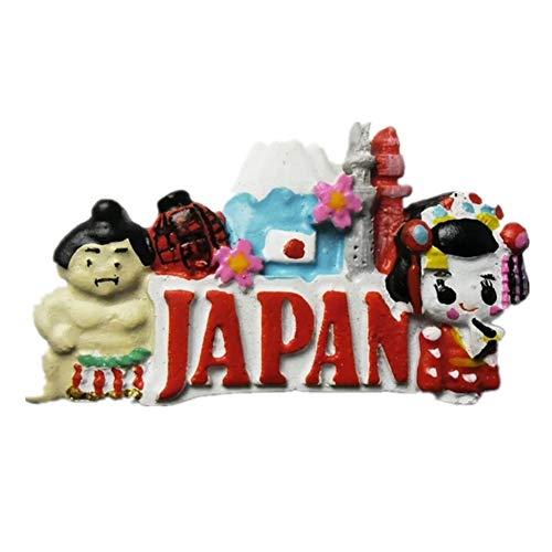 Kühlschrankmagnet Sumo Kimono Japan Asien 3D Harz Handgemachtes Handwerk Tourist Travel City Souvenir Sammlung Brief Kühlschrank Aufkleber