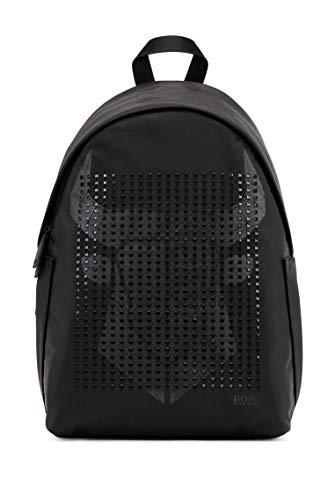 BOSS Herren CNY BA 214 Backpack Rucksack aus Strukturiertem Nylon mit Ochsenkopf-Grafik Größe One Size