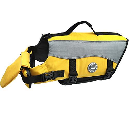 Vivaglory Hunde-Schwimmweste Float Coat Wassersport Schwimmhilfe Rettungsweste für Hunde Haustier Mit Griff und Reflektoren