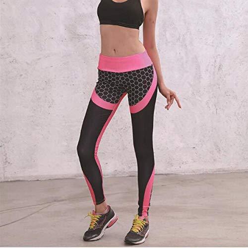 Leggings Deportivos Pantalones Nido De Abeja Pantalones De Yoga Impresos En 3D Mujeres Push Up Professional Running Fitness Gym Sport Leggings Pantalón Ajustado Lápiz Leggins