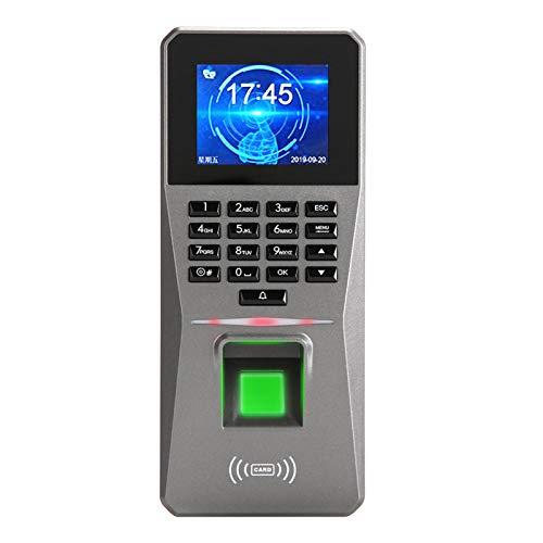 Control de acceso con contraseña de asistencia de tiempo, control de acceso de huellas digitales, control de acceso de alarma de asistencia de reloj de material ABS, con pantalla de imágenes HD, para