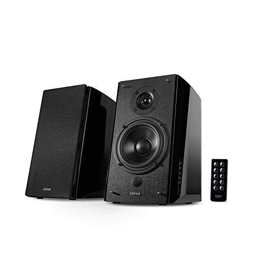 Edifier R2000DB Powered Bluetooth Bookshelf Speakers - Near-Field Studio Monitors - Optical Input - 120 Watts RMS - Black (Renewed)