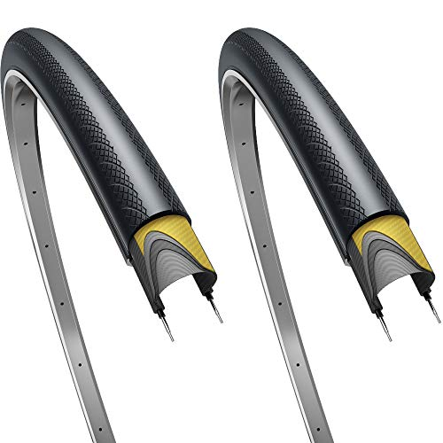 Fincci Pair 700 x 28c 28-622 Tyres 60TPI with 1mm Antipuncture Protection for Cycle Race Road Racing...