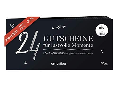 Premium Liebes-Gutscheinheft für Männer: 24 Liebes-Gutscheine, perfekt zum Geburtstag, Geschenk für Mann, Partner-Geschenk für Freund, Partner