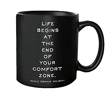 Quotable Life Begins Quotable Mug - Quotes Kitchen Home MUG-G226-QUOTE
