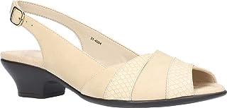 Easy Street Women's Block Heel Sandal Heeled, Sand, 7 Wide