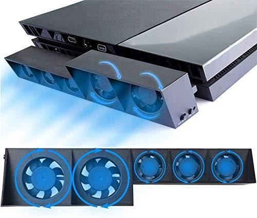 Ventola di raffreddamento per PS4, dispositivo di raffreddamento esterno USB 5 ventola Turbo Controllo della temperatura Ventole di raffreddamento per console di gioco Sony Playstation 4