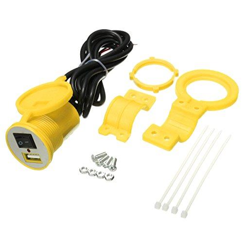 GOZAR 12-24V waterdichte USB Car motorfiets oplader voeding stopcontact met schakelaar