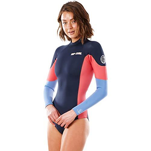RIP CURL Women G Bomb Long Sleeve Back Zip WSP3BW - Slate Womens Size - US 6