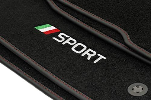 Motohobby Sport Velour Fußmatten Satz für FIAT Grande Punto (2005-2010) - 4-teilig - Passgenau