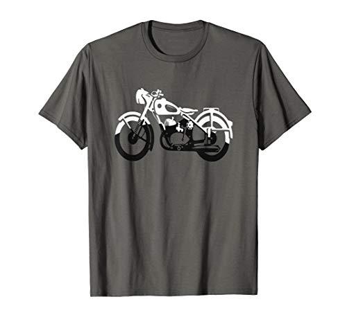 schwarz weißes Motorrad / Bike, für Biker & Motorradfahrer
