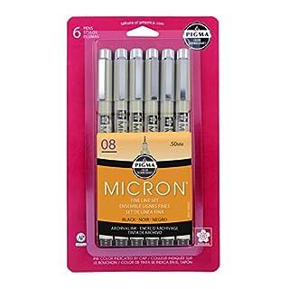 Sakura 50039 6-Piece Pigma Micron-08 Ink Pen Set, 0.50mm, Black (B00K3KRQM2) | Amazon price tracker / tracking, Amazon price history charts, Amazon price watches, Amazon price drop alerts