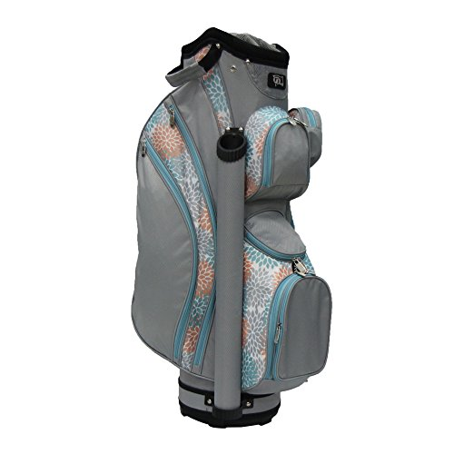 RJ Sports Lb-960 Ladies Cart Bag with 3pk Head Covers, Coral/Grey, 9