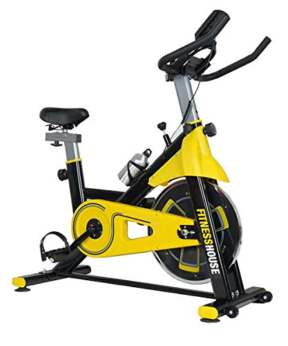 Fitness House Bestia Sports, Bicicletta Indoor Unisex – Adulto, Giallo e Nero, M-L