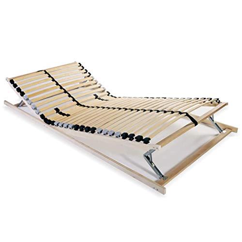 Tidyard Lattenbodem Vervanging van Bedlatten Voor Eenpersoonsbed or Tweepersoonsbed met 28 Latten 7 Zones 70x200 cm