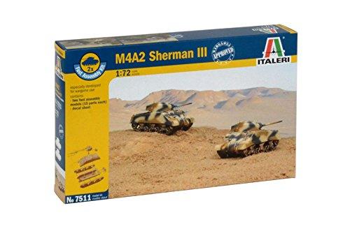 Italeri 510007511 – Panzer – 1:72 M4A2 Sherman III