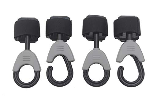 Multi Purpose Stroller Hooks, Great Hook Set for Walkers, Wheelchairs, Rollators - 4 Pack