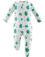 Owlivia Bamboo Footie Pajamas, Baby Boy Girl Sleep 'N Play, Zip Front Non-Slip Footed Sleeper Pjs(12-18 Months, Cactus)