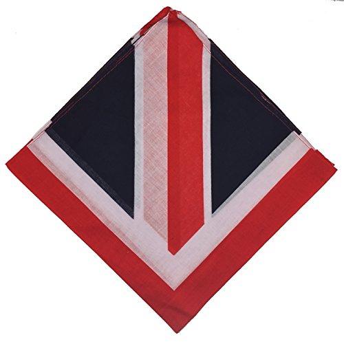 Boolavard Boolavard 100% Baumwolle, Paisley Bandana Bandana Headwear/Haar-Band-Schal-Ansatz-Handgelenk-Verpackungs-Band-Kopf-Bindung (Schwarz, Rot, Blau, Weiß, etc.) 60+ Stile (25# Union Jack)