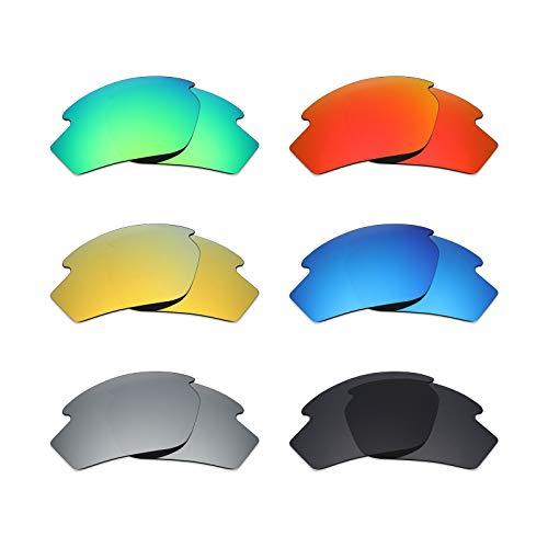 Mryok 6 pares de lentes polarizadas de repuesto para gafas de sol Rudy Project Rydon, color negro sigiloso, rojo fuego, azul hielo/plateado titanio, verde esmeralda/oro de 24 quilates.