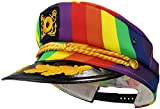 Unisex Pride Captain Hat, Rainbow, Adjustable