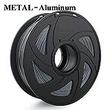 Filamento de impresora 3D, Fayella 1.75mm 1KG PLA ABS Nylon Madera TPU PETG Carbono ASA PP PC Filamento de impresión de plástico 3D, Metal, Aluminio