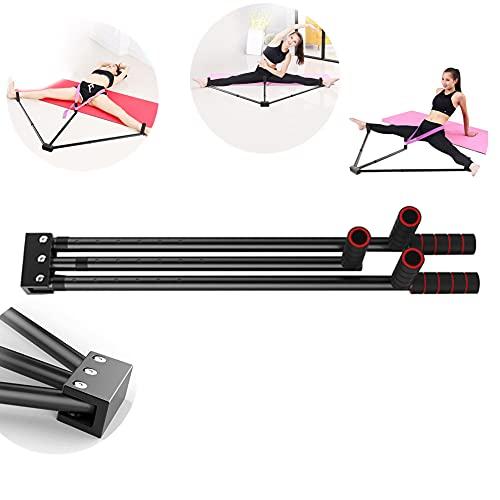 Prensador de pierna de hierro con 3 patas de barra, Zoomarlous herramienta de entrenamiento de flexibilidad para equilibrio de ballet