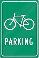 自転車駐車場(自転車のグラフィック)サインヘビーメタルティンサインアルミニウム
