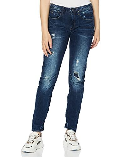 G-STAR RAW Damen Jeans Arc 3D Low Waist Boyfriend, Blau (Dk Aged Restored 8494-7351), 23W / 30L