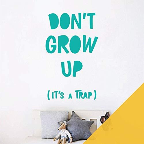 Sticker mural avec citation Don't Grow Up, It's a Trap XXLarge (720 x 1200mm) tournesol