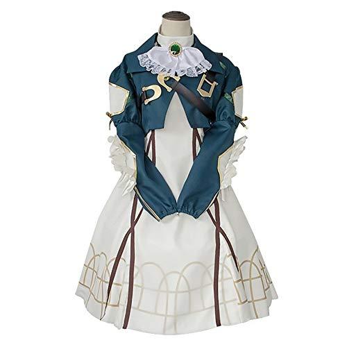 Q&N Damen Anime Cosplay Uniform AnzugViolettes Evergarden Cosplay KostümLanges Lolita Prinzessin Kleid OutfitFür Cosplay Party Masquerade,M