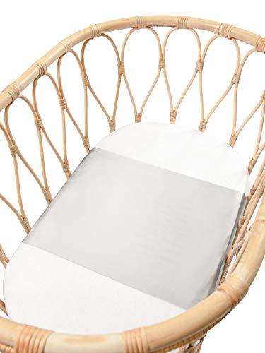 Sleepy Silk – 25 Momme Maulbeerseide für Stubenwagen | keine kahlen Stellen oder Haarausfall für Neugeborene | Hypoallergen und perfekt für empfindliche Haut | SIDS sicheres Design | Taubengrau