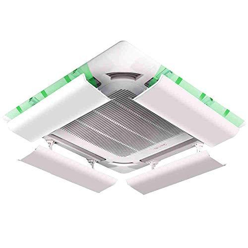 Deflettore del Condizionatore D'Aria per Aria Condizionata Centralizzata A Soffitto Inclinazione Regolabile Installazione Facile Impedisce All'Aria Fredda di Soffiare Dritta (Un Pezzo) (60cm)