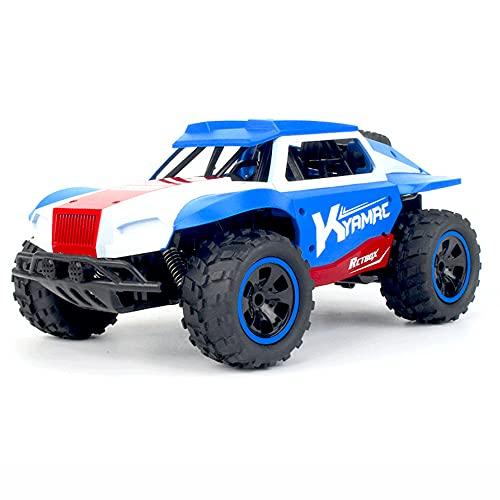 KGUANG Desert Off-road RC Short Card 1:18 Escala 2WD Escalada Amortiguador 2.4G Control remoto Modelo de buggy Velocidad infinitamente variable Vehículo de juguete para niños Niño Regalo de cumpleaños