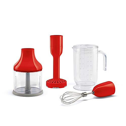 SMEG HBAC01RD staafmixer, rood