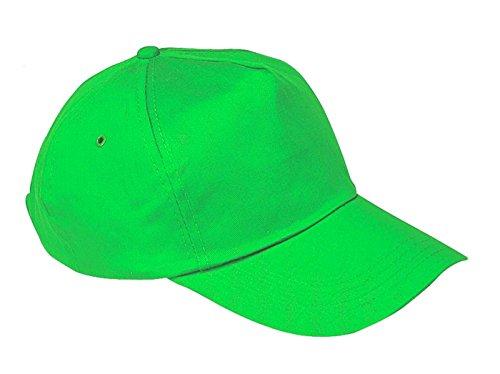 morefaz Unisex Jungen Mädchen Mütze Baseball Cap Hut Kinder Kappe TM (Neongrün)