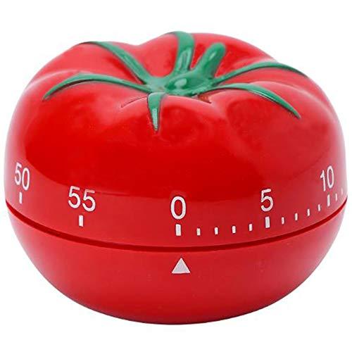 yyuezhi Temporizador de Tomate de Cocina de 60 Minutos Temporizador de Tomate de Cocción Temporizador de Cocina Rojo Lindo Temporizador Mecánico de Cocina Tomate Temporizador Creativo de Tomate