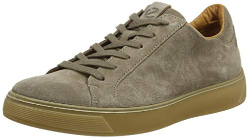 ECCO mens Street Tray Classic Sneaker, Navajo Brown Suede, 10-10.5 US