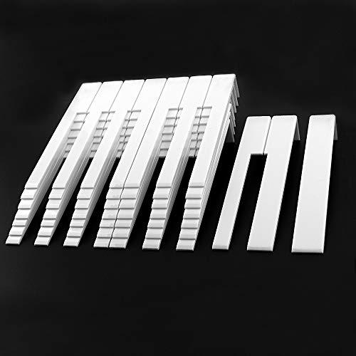 YINGDATETUI Reparatur-Werkzeug für Klavier 52pcs Qualitäts-Durable Piano Zubehör Piano Key Top Ersatzteile mit weißer Farbe for Musikinstrumente Piano Parts